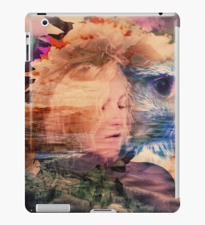 A lady and an eagle iPad Case/Skin