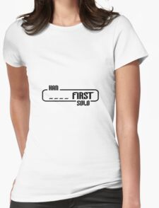 HAN SOLO _ _ _ _ FIRST - Spoiler Attack Womens Fitted T-Shirt
