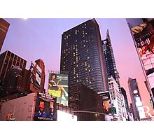 Times Square Sunset Photographic Print