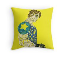 Watchmen - The Comedian - Typography  Throw Pillow