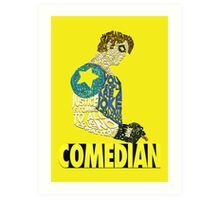 Watchmen - The Comedian - Typography  Art Print