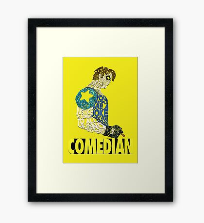Watchmen - The Comedian - Typography  Framed Print