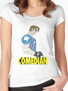 Watchmen - The Comedian - Typography  Women's Fitted Scoop T-Shirt