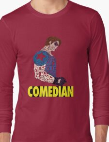 Watchmen - The Comedian - Typography  Long Sleeve T-Shirt