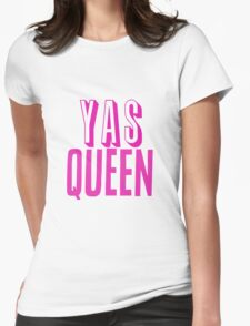 Yas Queen Hot Pink Womens Fitted T-Shirt