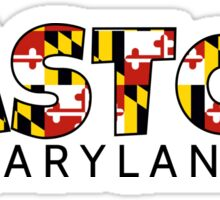 Easton Maryland flag word art Sticker