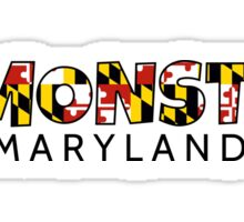 Edmonston Maryland flag word art Sticker