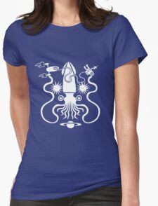 Gargantuan Space Squid Danger Imminent Womens Fitted T-Shirt
