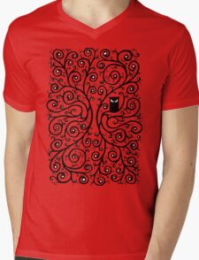 The Owl Mens V-Neck T-Shirt