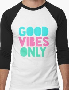 Good Vibes Only Pastel Men's Baseball ¾ T-Shirt