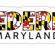 Frederick Maryland flag word art Sticker