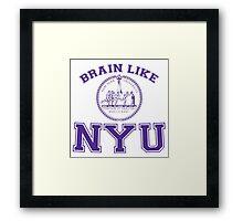 Brain Like NYU Framed Print