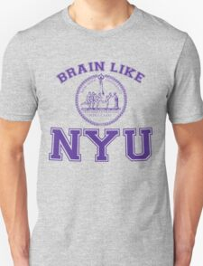 Brain Like NYU Unisex T-Shirt