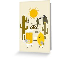 Wrong place Greeting Card