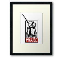 PRAISE - Solaire, Dark Souls Framed Print