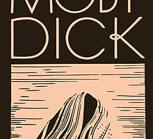 Retro Art Deco Moby Dick book cover art  by aapshop