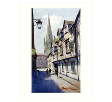 Church Street, Shrewsbury, England Art Print
