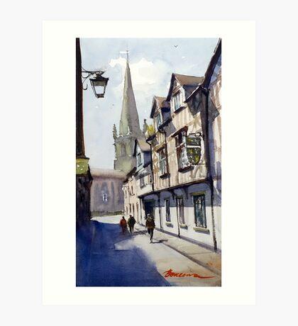 Church Street, Shrewsbury, England Art Print