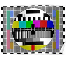 TV Broadcast test pattern Poster