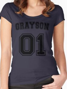 Dick Grayson Sports Jersey Women's Fitted Scoop T-Shirt
