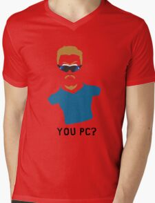 You PC Bro?  Southpark PC Principal (on white) Mens V-Neck T-Shirt