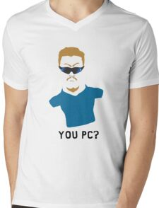 You PC Bro?  Southpark PC Principal (on white) Mens V-Neck T-Shirt