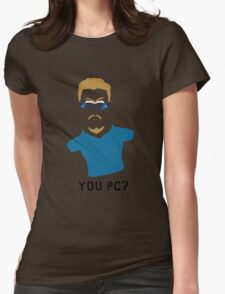 You PC Bro?  Southpark PC Principal (on white) Womens Fitted T-Shirt