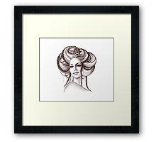 Portrait of Woman #6 Framed Print