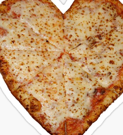 Pizza Heart Sticker