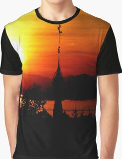 Sunset from Shampoo Island  Graphic T-Shirt