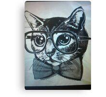 Nerd kitten  Canvas Print