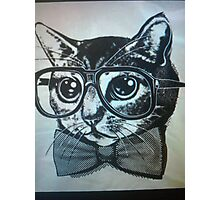 Nerd kitten  Photographic Print