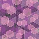Pink and purple hexagons by tdhanshew