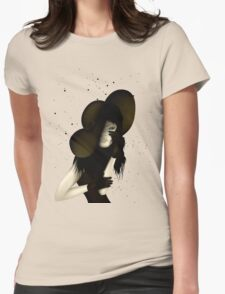 Portrait of Woman #9 Womens Fitted T-Shirt