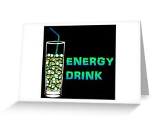 Mario Up Energy Drink spot Greeting Card