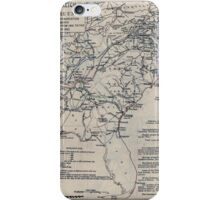 Civil War Maps 0500 Historical sketch of the war for the Union showing the lines of demarcation important movements and battles in each year from 1861 to the close of the war in 1865 iPhone Case/Skin