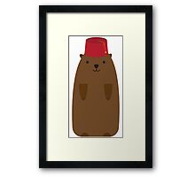 The Big Groundhog in a Fez Framed Print