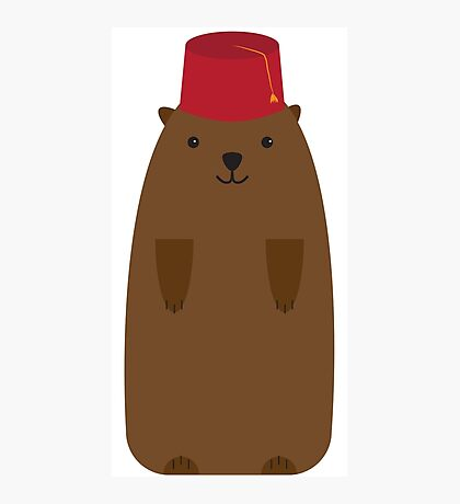 The Big Groundhog in a Fez Photographic Print