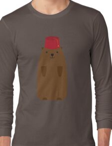 The Big Groundhog in a Fez Long Sleeve T-Shirt