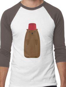 The Big Groundhog in a Fez Men's Baseball ¾ T-Shirt