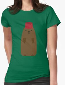 The Big Groundhog in a Fez Womens Fitted T-Shirt