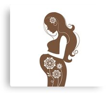Beautiful pregnant woman #4 Canvas Print