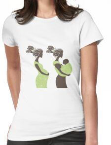 Beautiful pregnant woman #5 Womens Fitted T-Shirt