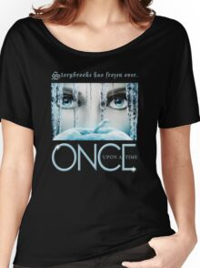 Once Upon a Time, Iced Over, season 4, OUAT,  Storybrooke has frozen over Women's Relaxed Fit T-Shirt
