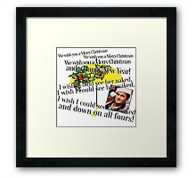 Merry Christmas by Barney Framed Print