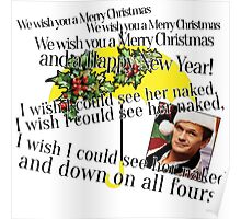 Merry Christmas by Barney Poster