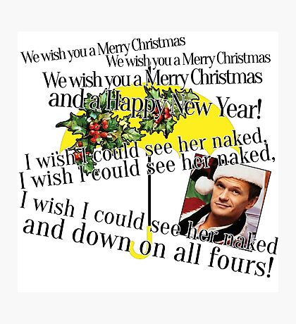 Merry Christmas by Barney Photographic Print