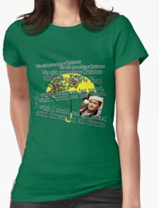 Merry Christmas by Barney Womens Fitted T-Shirt