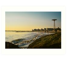 Coney Island Sunset Art Print