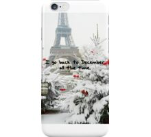 BACK TO DECEMBER iPhone Case/Skin